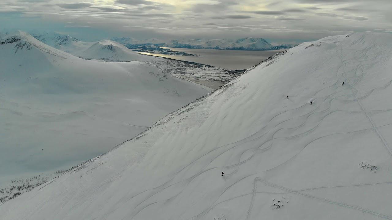 day 1 lyngen alps ski trip