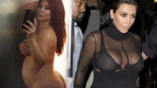 Kim Kardashian Most Revealing Pregnant Picture