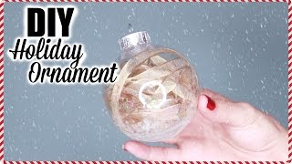 DIY RIBBON HOLIDAY ORNAMENTS - TWO VERSIONS | EASY HOLIDAY DECOR TUTORIAL