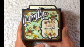 Simple Stories Vintage Blessings  Fall Mini Album