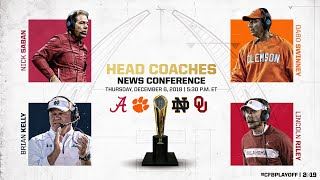 College Football Playoff Semifinal Head Coaches Joint News Conference