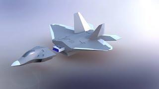 F22 Raptor  Solidworks 3D Printing Model  Surface modeling in Solidworks