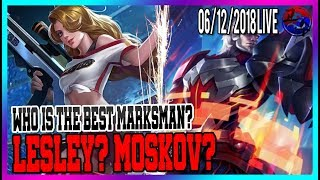 Lesley or Moskov?? Mobile Legends North America Marksman Player with Team Gosu
