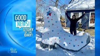 Good News: Art Teacher Katina Gustafson's Snow Sculptures