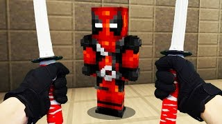 REALISTIC MINECRAFT - STEVE MEETS DEADPOOL! 😈
