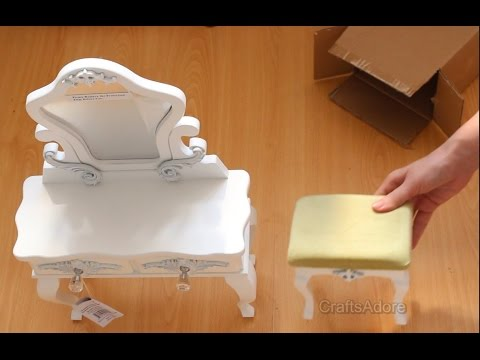 Opening The Queen's Treasures' Victorian Vanity Table for American Girl Doll House ~HD~