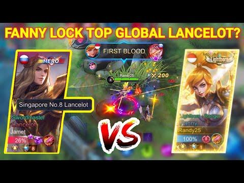 TOP GLOBAL SUPREME SINGAPORE LANCELOT VS RANDY25 FANNY! WHO WIN?!   Mobile Legends