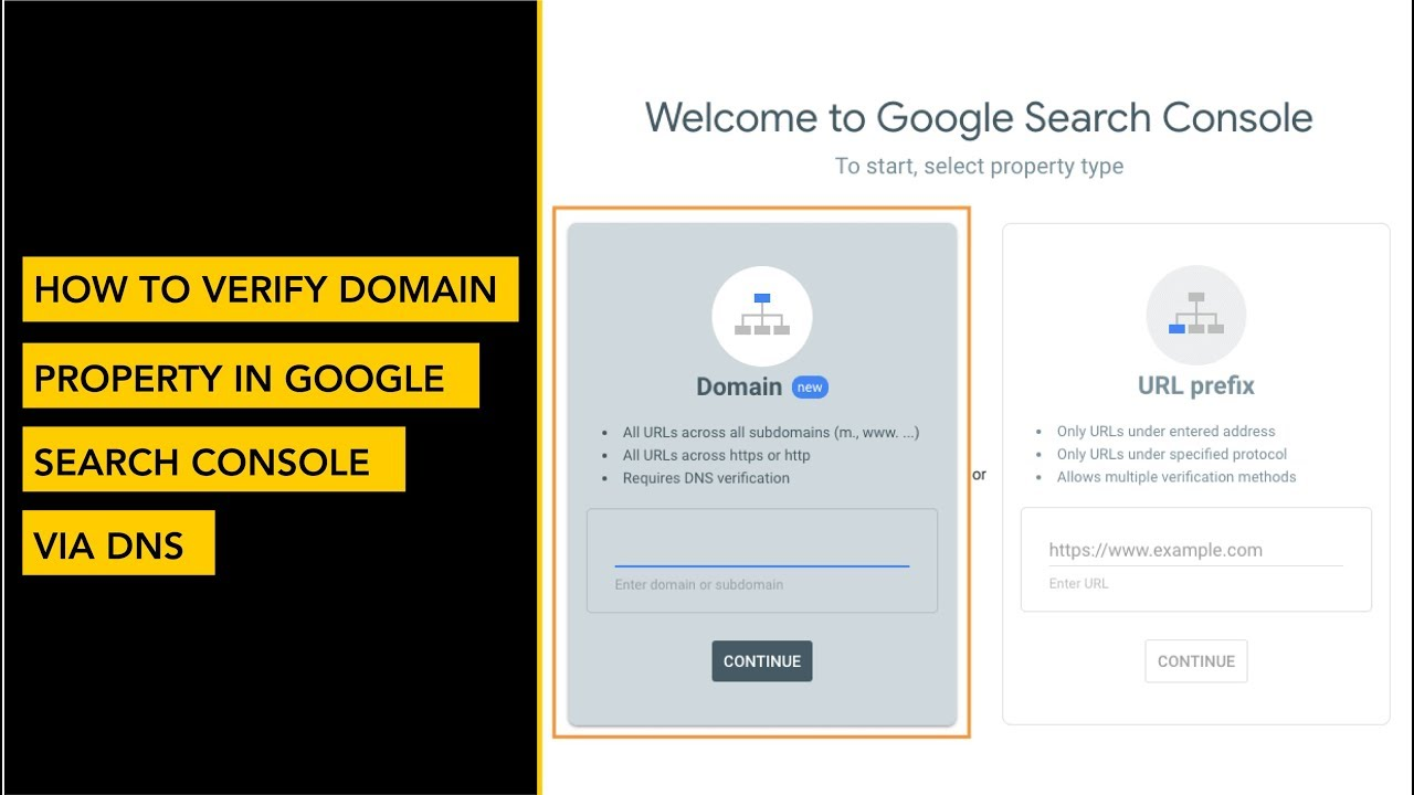 How to Verify Domain Property in Google Search Console via DNS