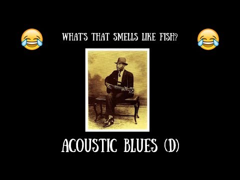 Acoustic Blues Guitar Backing Jam Track (D)