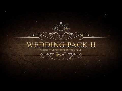 Wedding Pack Ii Adobe After Effects Template