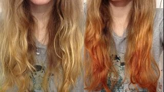 Как сделать ЦВЕТНОЕ ОМБРЕ в домашних условиях?! Как покрасить волосы?(Привет! Это снова Тако :) Сегодня хочу показать вам, как покраситься дома, вернее сделать цветное омбре. Для..., 2016-02-10T10:39:56.000Z)