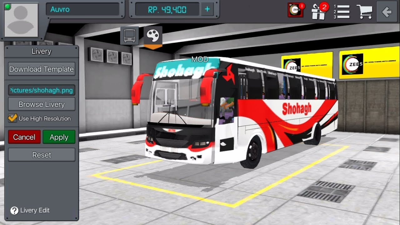Hino AK1J Super mod for BUSSID with Link