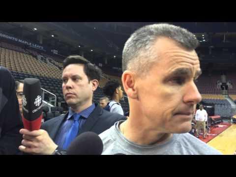 Donovan: Shootaround in Toronto - March 28, 2016