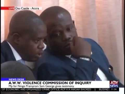 Commission of Inquiry: MP for Ningo Prampram Sam George Gives Testimony - JoyNews (25-2-19)