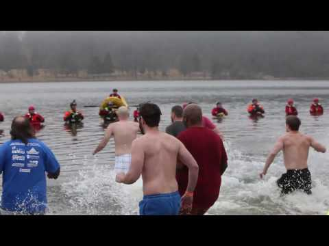 Taking the plunge: Bracing cold Pinchot Lake to benefit the Special Olympics