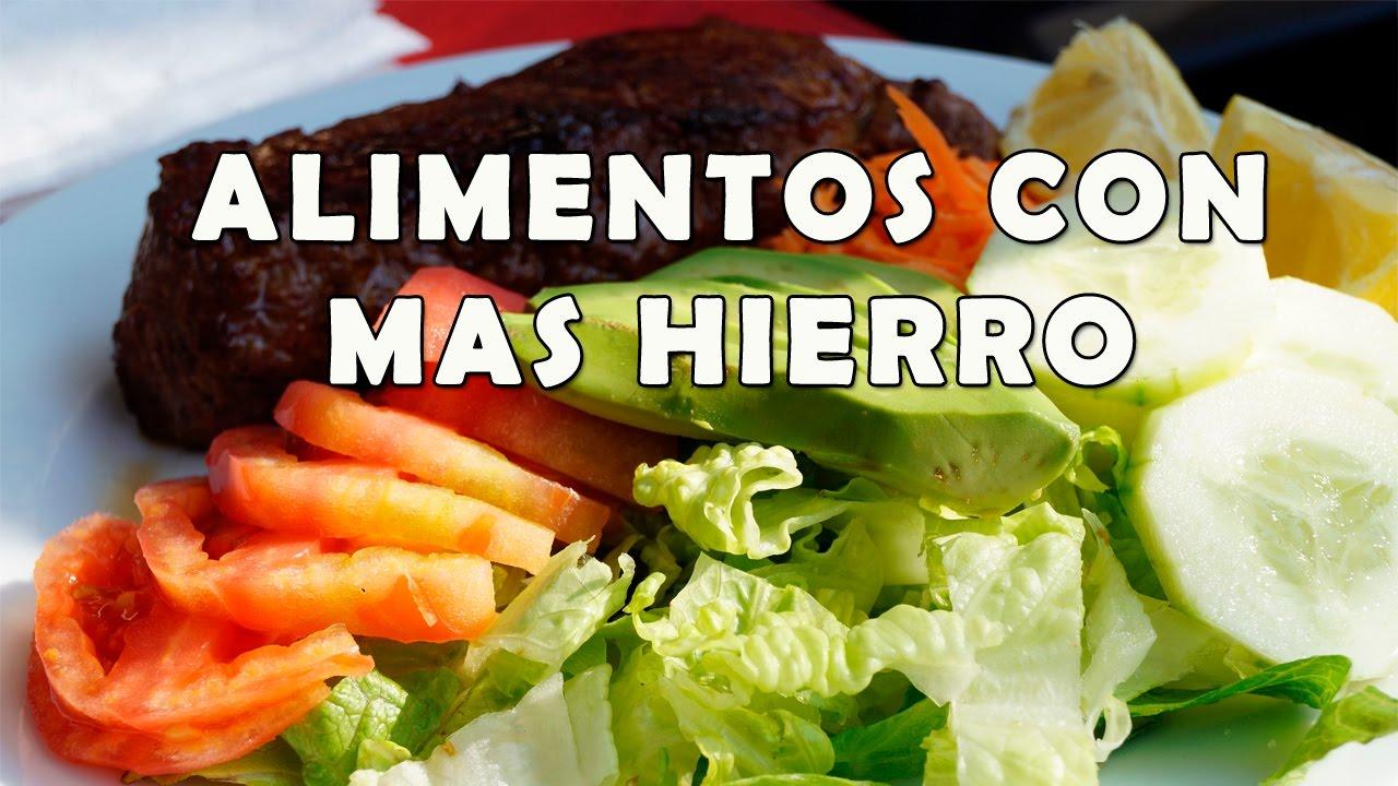 Que alimentos contienen hierro alimentos que contienen m s hierro youtube - Alimentos que tienen calcio ...
