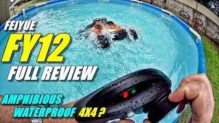 FEIYUE FY12 BRAVE Review - 1:12 4x4 Amphibious RC Truck - (Unboxing, Bash/SOAK TEST! Pros & Cons)