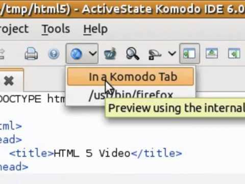 Komodo IDE: Editing HTML, CSS And JavaScript
