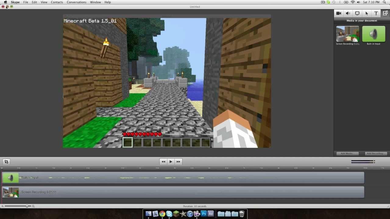 I. Record Minecraft PE on iOS