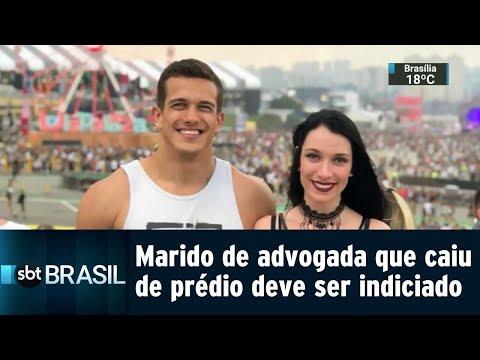 Marido de advogada que caiu de prédio deve ser indiciado por feminicídio   SBT Brasil (03/08/18)