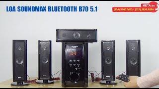Nghe nhạc Xuân cực chất với Loa bluetooth SoundMax B70 5.1 công suất 100W