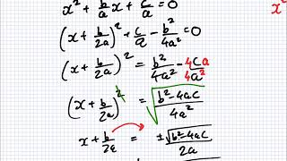 Maths for Science | 1819 Intake 1 | Lesson | The Quadratic Formula