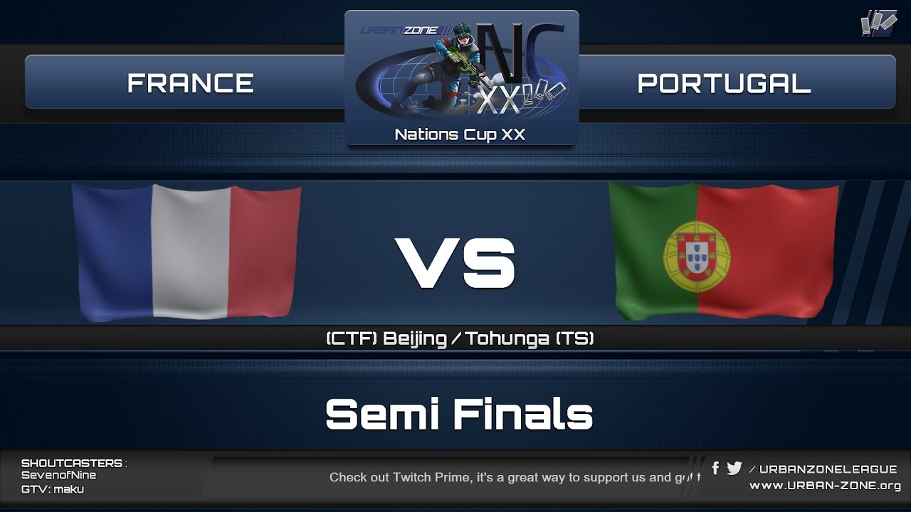 NationsCup XX - Semi-finals - France vs Portugal
