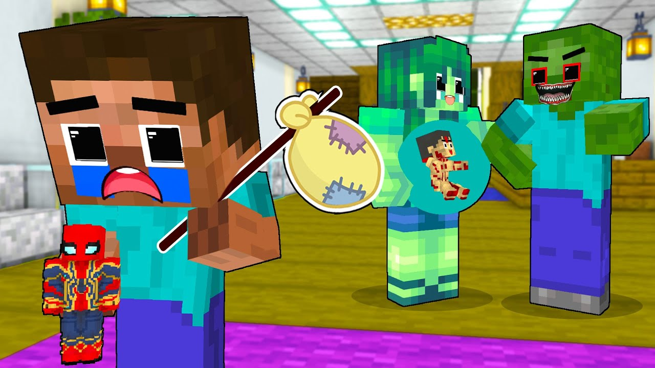 Monster School : Baby Zombie Leave Home With Bad Father - Super Sad Life - Minecraft Animation