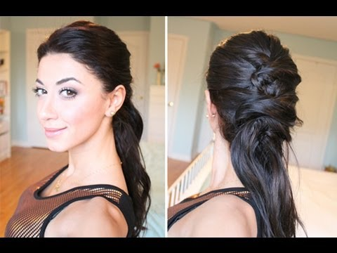 Crisscross Ponytail Hairstyle
