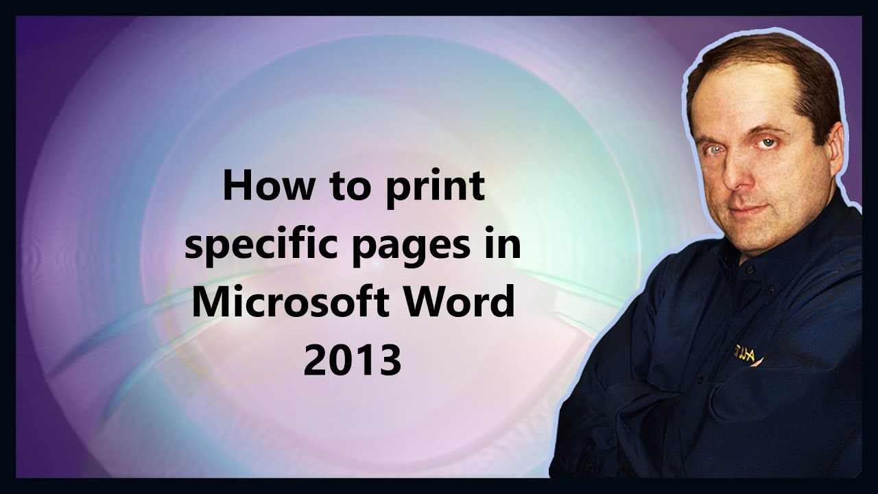 how to add page numbers on certain pages in word