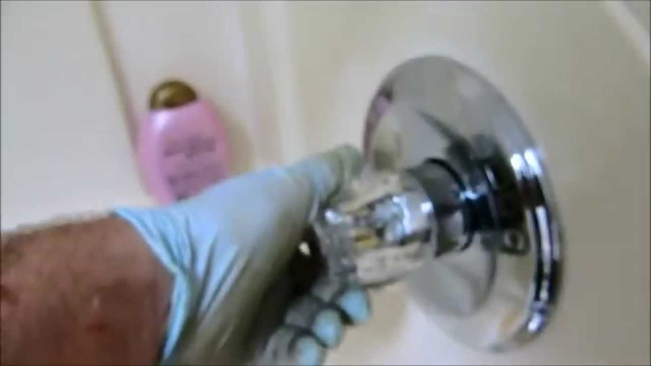 tub/shower valve leaking in wall, replaced - YouTube
