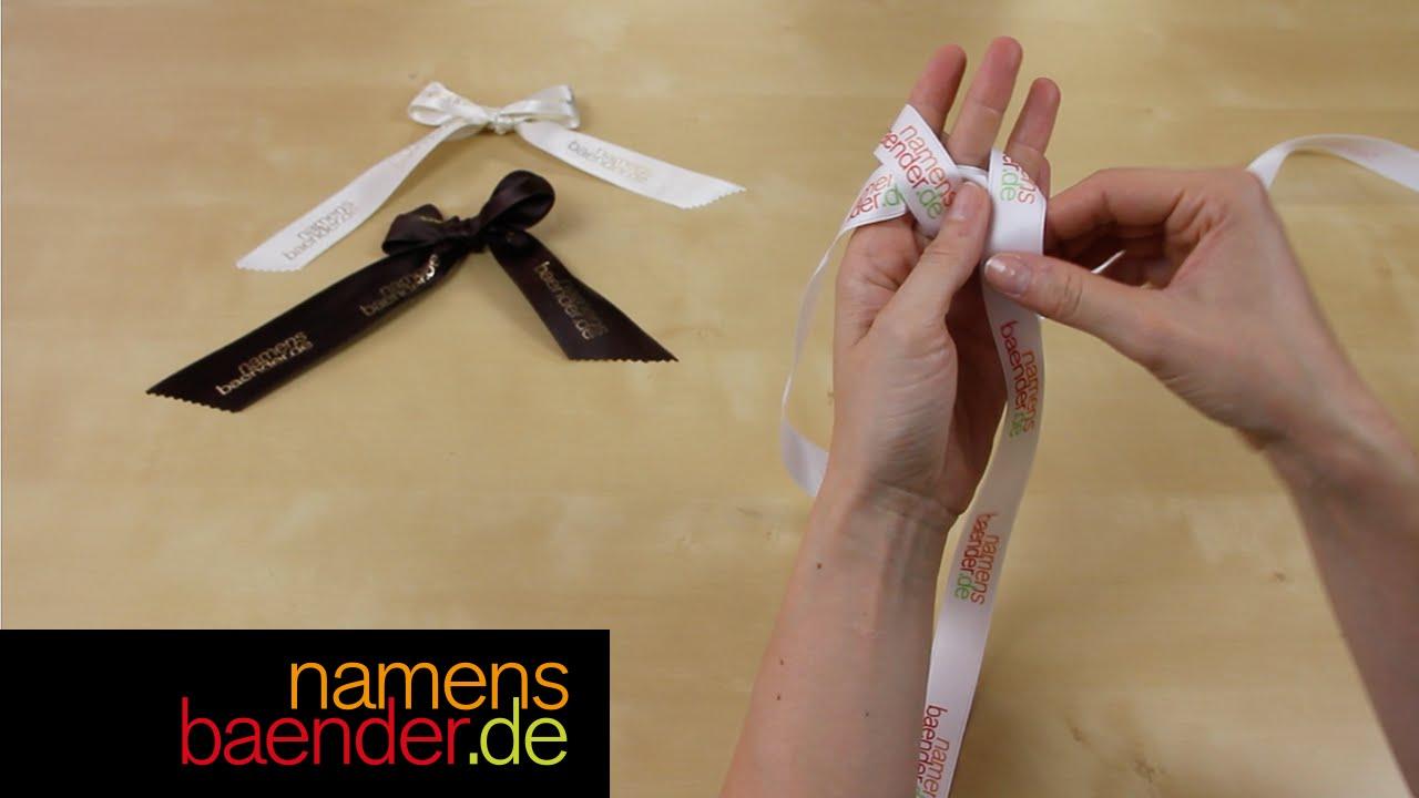 Beliebt Anleitung: Aus Bändern dekorative Schleife binden - YouTube EH52