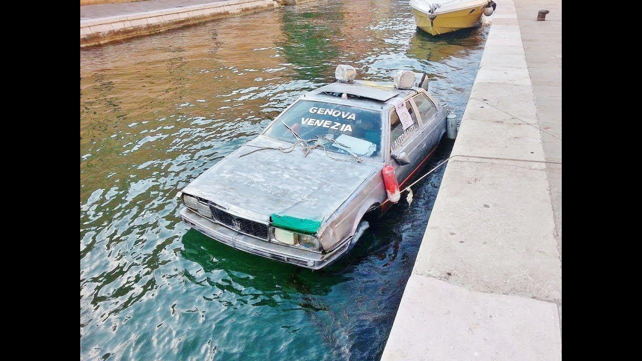 AUTONAUTI / Auto , Boot / car , boat / Venice , Genoa / Biennale / crazy  water trip