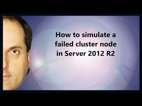 How to simulate a failed cluster node in Server 2012 R2