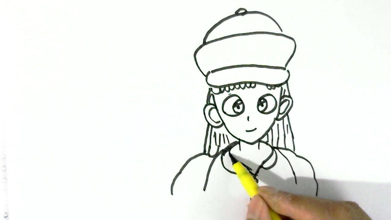 How To Draw Bulma Dragon Ball Z Easy Steps For Children, Kids, Beginners