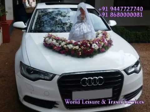 KERALA WEDDING CAR RENTAL YouTube - Audi car decoration