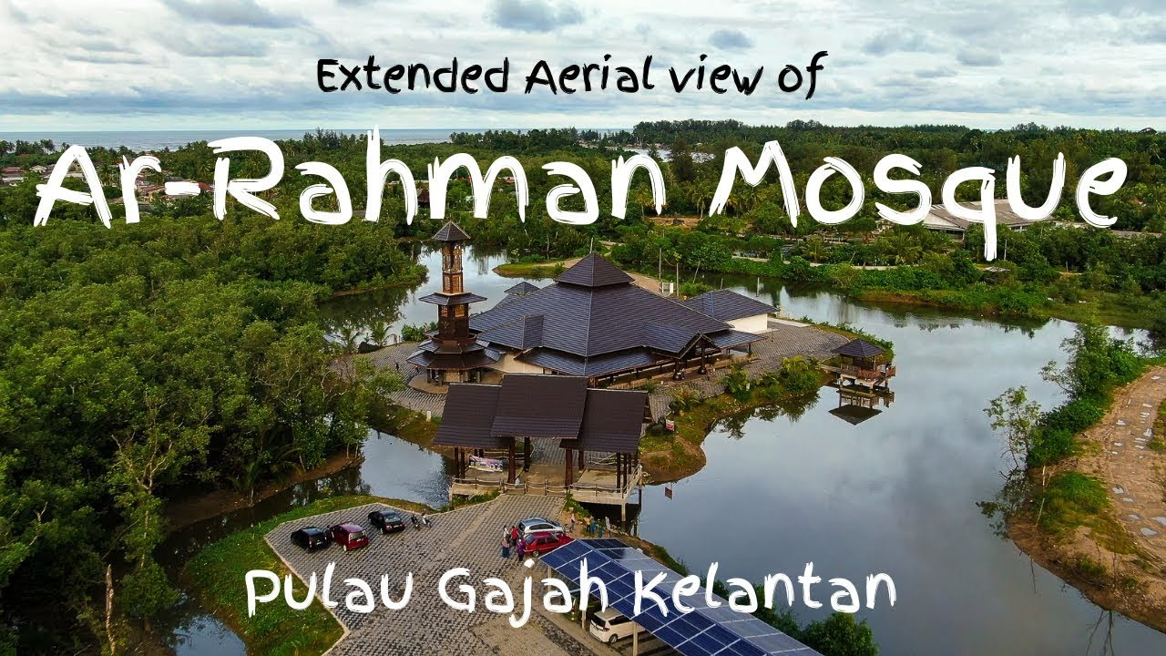 Beautiful Malaysian Mosque Surrounded By Water Video About Islam