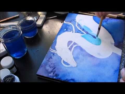 Haku Dragon Form Spirited Away Watercolour Speed Painting