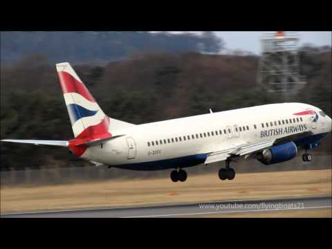 British Airways Airbus A321, A320 and Boeing 737 planes at Edinburgh Airport