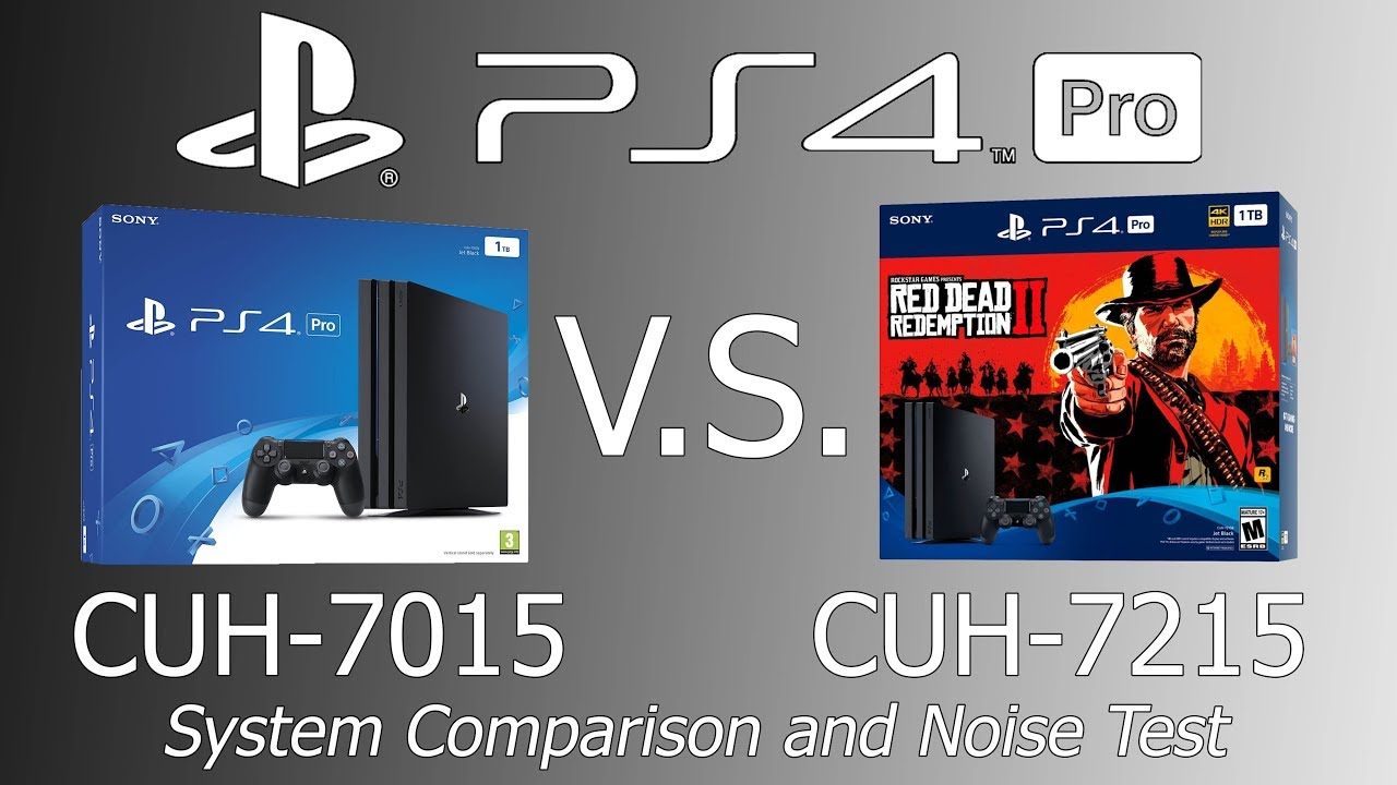 Ps4 Pro Cuh 7015 Vs Cuh 7215 Model Comparison And Noise Test Youtube