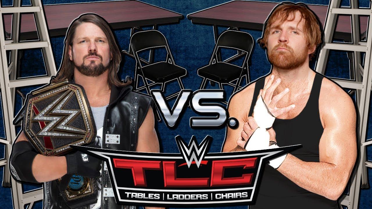 Download AJ Styles vs Dean Ambrose - TLC Match (WWE Championship) TLC 2016 - Wrestling Highlights