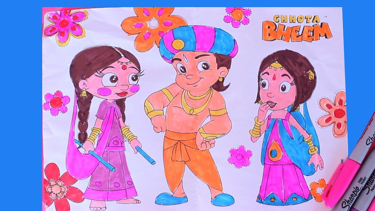 Chhota Bheem Coloring Pages Games. Chhota Bheem Coloring page  cartoon Tiny Pix YouTube