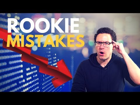 The Most Common Rookie MISTAKES for Beginning Traders