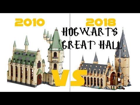 lego harry potter 4842 hogwarts castle vs 75954 hogwarts great hall first look comparison. Black Bedroom Furniture Sets. Home Design Ideas
