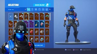 "*NEW* ""CARBON COMMANDO"" SKIN Showcased With 120+ BACK BLINGS! Fortnite Battle Royale"