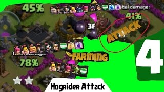 //PP// JAK NA: Attack strategy - Hogrider attack [04#] - Clash of Clans