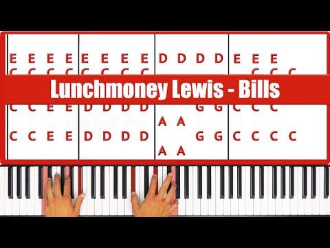 Bills Lunchmoney Lewis Piano Tutorial - ORIGINAL