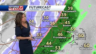 Video: Rain ends with snow as frigid air moves in