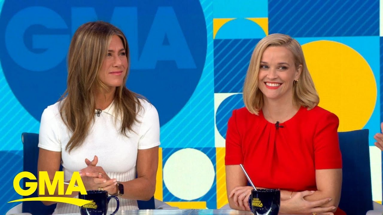 Download Jennifer Aniston and Reese Witherspoon reunite for 'The Morning Show' l GMA