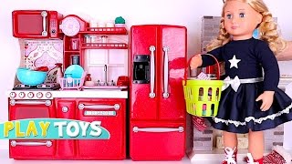 Doll house & Cooking Kitchen Toys w/ American Girl Doll